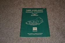 GMC 1500 I-1500 P1500 truck turbo hydramatic auto transmission maint manual 1966