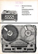 Service Manual-Anleitung für Telefunken Magnetophon 97