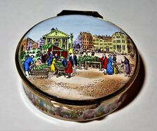 CRUMMLES ENGLISH ENAMEL BOX - COVENT GARDEN CIRCA 1800 - LONDON FARMER'S MARKET