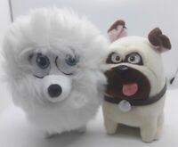 "The Secret Life of Pets Plush Soft Toy Bundle x2 Gidget and Mel Approx 6"""