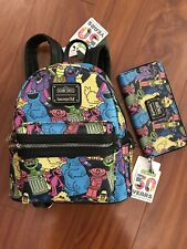 New Loungefly Sesame Street Bag Purse Handbag Zip Wallet Women Mini Backpack