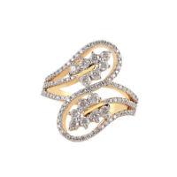 Pave 1,40 Cts Natürliche Diamanten Verlobungsring In Solides Hallmark 14K Gold