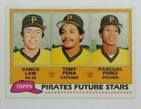 1981 Topps Future Stars Vance Law Tony Pena Pascual Perez Rookie #551, Pirates
