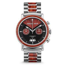 Wrist Watch - ORIGINAL GRAIN - Rosewood Silver  Chronograph 60% off