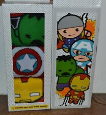 MARVEL KAWAII Boxed Set 3 Men's Crew Socks Size 10-13 Shoe Size 6-12 Licensed