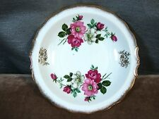 Vintage Roses Plate Floral Plate with Gold Trim