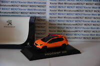 VOITURE PEUGEOT 2008 ORANGE MATT GENEVE 2013  NOREV 1/43 COLLECTION PEUGEOT