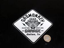 Pegatina de vinilo impreso GAS MONKEY nº4 10,5x10,5 cm.