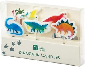 5 x Dinosaur Shape Birthday Cake Candle Toppers Dino Party Supplies