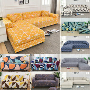 Modern Elastic Sofa Cover Fitted Slipcovers Stretchable Couch Protector Decor
