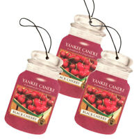 Yankee Candle Classic Car Jar Hanging Air Freshener, Black Cherry Scent -3 Pack