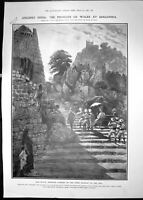Antique Old Print 1906 Princess Wales Golconda Shooting Camp Nikonda India 20th