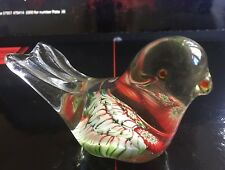 Murano-Style Millefiori Blown Glass Bird Paperweight Vintage Collectable