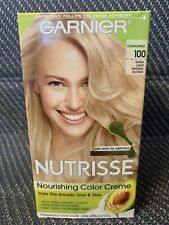 Garnier Nutrisse Permanent Hair Color - 100 Extra Light Natural Blonde *LOOK*