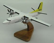 F-50 Fokker 50 Air Baltic Airplane Desk Wood Model Big
