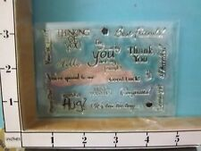 Clear unmounted Saying Stamps Thank You, Good Luck Thanks rubber stamps 24Y
