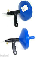 """2 NEW Drain Cleaner 1/4"""" x 25' ft Portable Sewer Snake Clog Cable Auger Plumbing"""