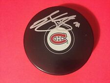 Brian Gionta Montreal Canadiens Signed Auto Puck w/ Holder COA