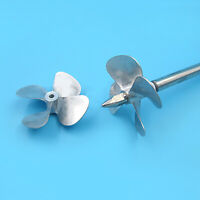 For RC Bait Boat Models Zinc Alloy 4-Blade CW CCW 4MM 60MM Propeller Shaft Prop