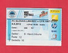 ORIG. biglietto CHAMPIONS LEAGUE 2012/13 Slovan Liberec-cfr 1907 Cluj!!!