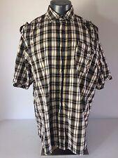 Rocawear 4XL 4XL Button Up Shirt gelb weiß schwarz Taschen Knöpfen