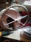 """EDSON DESTROYER SAILBOAT STEERING WHEEL 22"""" Rope Wrapped 1"""" Straight Bore"""
