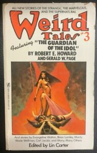 WEIRD TALES #3 Robert E Howard Brian Lumley and others (1981) Zebra pb 1st