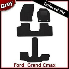 Ford Grand C-Max 2011 onwards Oval Eyelets Tailored Carpet Car Mats GREY