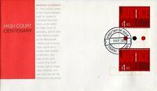 2003 High Court Centenary ($1.45 Gutter Pair) FDC - Perth WA 6000 PMK