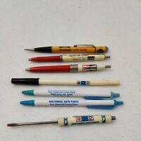 Lot of 6 Vintage  Cool Misc Auto Parts pen/ pencil +1 screwdriver Napa, Champion