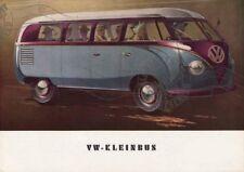 Volkswagenwerk GMBH 1951 1952 KLEINBUS Brochure VW Volkswagen Tour Bus catalogue