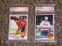1980 Mike Gartner + 1981 Denis Savard Topps RC PSA 9 6 Rookie Card Bundle Lot