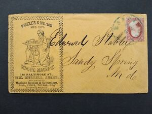Maryland: Baltimore 1850s #11 Wheeler & Wilson Sewing Machines Advertising Cover