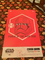 STAR WARS Power Of The Darkside NYCC EXCLUSIVE POSTER ART TOPPS Red Stormtrooper
