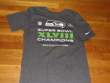 NIKE SEATTLE SEAHAWKS SUPER BOWL CHAMPIONS GRAY T-SHIRT MENS LARGE EXCELLENT