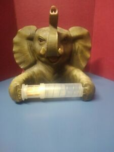 Trunk Up Elephant Bath Tissue Holder T. P. Holder With Attitude Jungle Room
