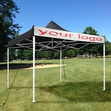10x10ft EZ Pop Up Canopy Commercial Tent Sun Shade Shelter Black with Carry Bag