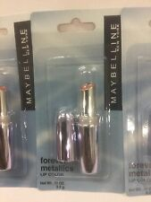 3 X Maybelline Forever Metallic Lipstick Lipcolor, Rose Bloom NEW AND SEALED.