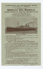 N°5762 / prospectus Compagnie de navigation mixte Marseille 1935