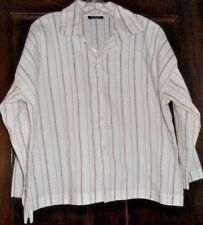 eskandar UK ~ Art to Wear ~ Boxy White & Maroon Stripe Boxy Blouse