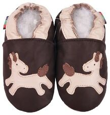 shoeszoo soft sole leather baby shoes pony brown 6-12m S