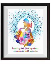 Uhomate Princess Snow White Once Upon A Time Art Print Nursery Wall Decor C076