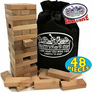 Jenga Game Giant Yard Big Large Wood Block Picnic Party Pool Tower Lawn Outdoor✅