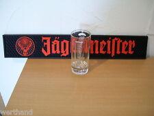 Jägermeister Barmatte Matte für die Bar Werbung und ein Glas 0,1l Longdrinkglas