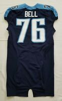 #76 Byron Bell of Tennessee Titans NFL Locker Room Game Issued Jersey