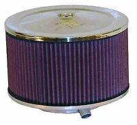 K&N UNIVERSAL AIR FILTER AIR CLEANER ASSEMBLY POLISHED 60-1365 fit FORD CHEVY