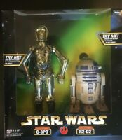 "Kenner Star Wars C-3PO & R2-D2 Action Collection Figure 12"" Box Set (NIB)"