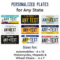 Personalized Custom License Plate Tag for Any State Auto Car Motorcycle Signage
