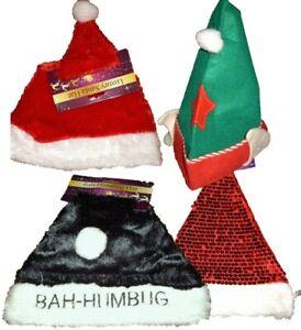 FATHER NOVELTY CHRISTMAS HATS XMAS OFFICEPARTY FESTIVE FANCY DRESS RED SANTA ELF