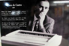 "20""X30"" Computer Museum Graphic  Panel of Edson de Castro Ships Worldwide"